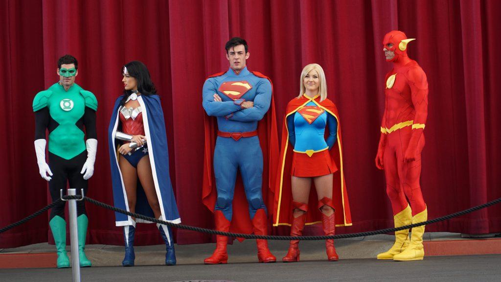 Super heroes at Gold Coast movie World
