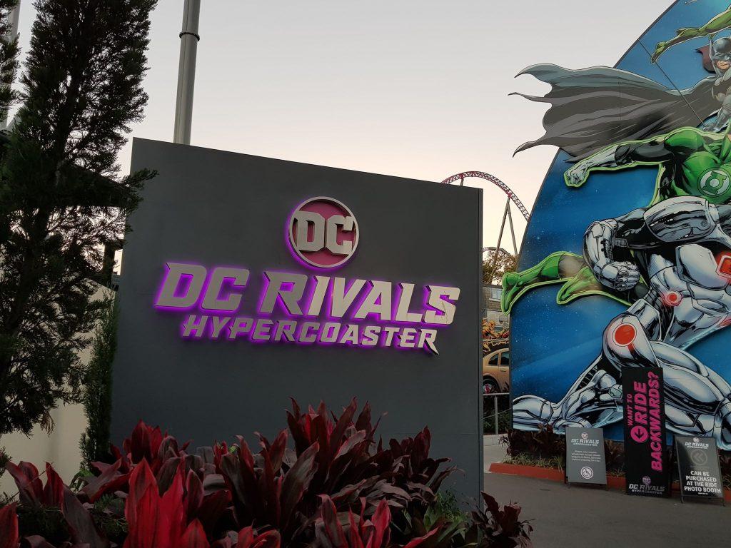 DC Rivals roller coaster