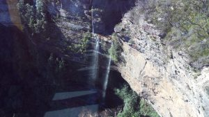 Waterfall while on the Skyway