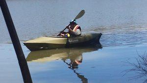 kids trying to kayak