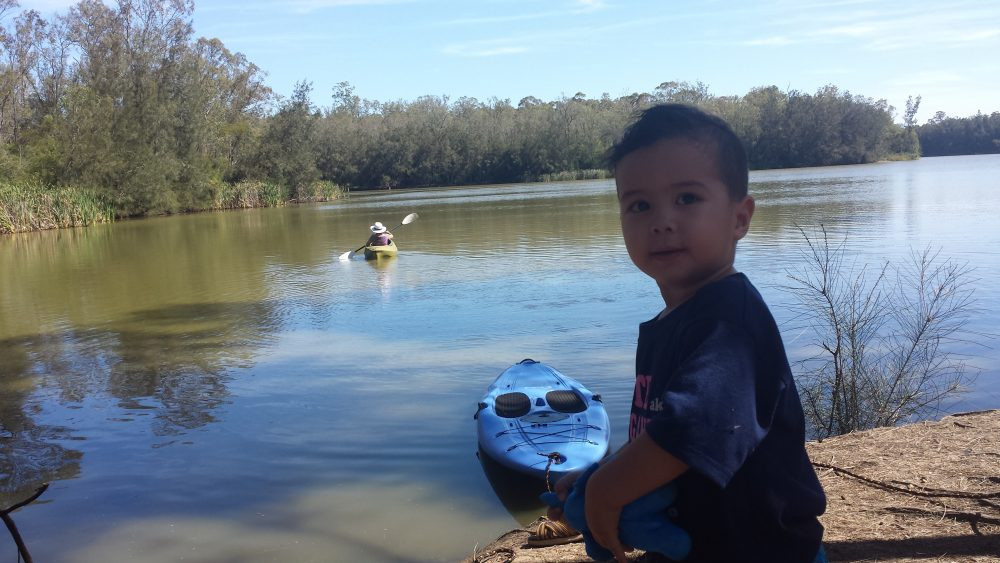 Kayak on the longneck lagoon